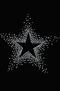 Star (Clear Rhinestones) - Women's T-shirt
