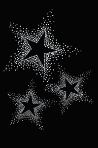 Three Stars (Clear Rhinestones)  - Women's T-shirt