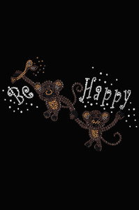 Monkeys - Be Happy - Women's T-shirt