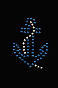 Anchor (Small Blue)  - Women's T-shirt