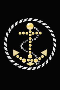 Anchor Circle (Nailhead)  - Women's T-shirt