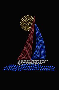 Sailboat (Rhinestud)  - Women's T-shirt