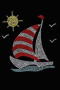 Sailboat (Rhinestone & Nailhead)  - Women's T-shirt