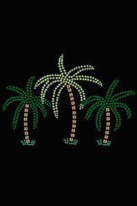 Palm Trees (Green Rhinestones) - Women's T-shirt