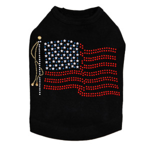 USA Flag dog tank for large and small dogs.