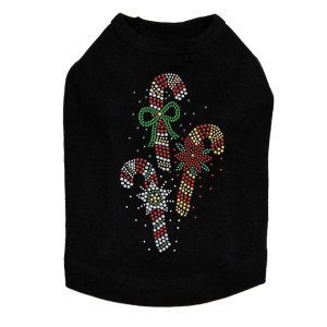 Candy Canes Dog Tank