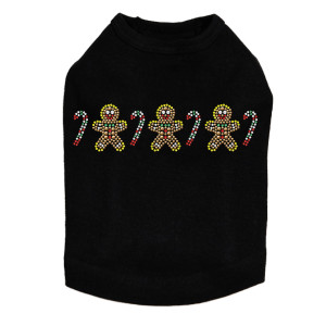Gingerbread Men & Candy Canes Dog Tank