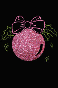Pink Glitter Ornament - Black Women's T-shirt