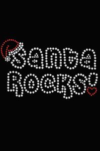 Santa Rocks - Black Women's T-shirt