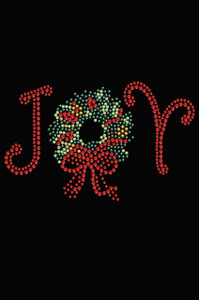 Joy Christmas Wreath - Black Women's T-shirt