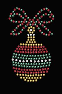 Red, Green, & Gold Christmas Ornament - Black Women's T-shirt