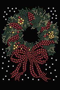 Christmas Wreath - Black Women's T-shirt