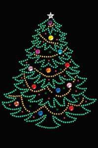 Christmas Tree #1 - Black Women's T-shirt