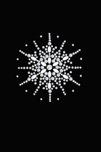 Snowflake #2 - Black Women's T-shirt
