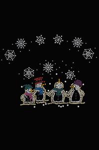 Snowman Family - Black Women's T-shirt