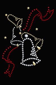 Nailhead Christmas Bells - Black Women's T-shirt