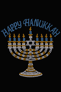 Menorah - Large (Blue, Silver, & Gold) - Women's T-shirt