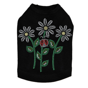 Daisies with Lady Bugs dog tank for small and large dogs.