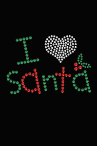I Love Santa - Black Women's T-shirt