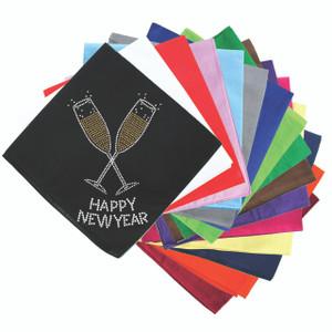 Happy New Year Champaign Glasses - Bandanna
