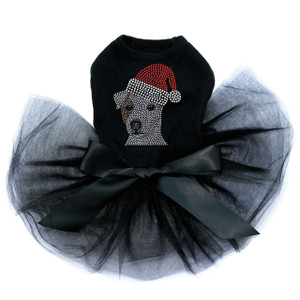 Jack Russell Terrier with Santa Hat - Tutu for Big and Little Dogs