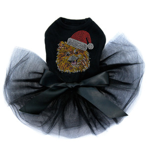 Pomeranian with Santa Hat - Tutu for Big and Little Dogs