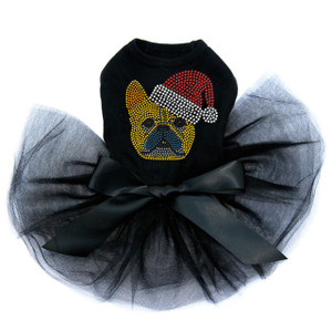 French Bull Dog with Santa Hat - Dog Tutu for Big and Little Dogs