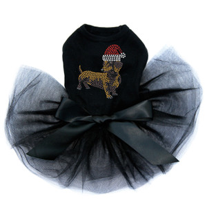 Dachshund # 2 with Santa Hat - Tutu for Big and Little Dogs