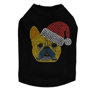 French Bull Dog with Santa Hat Dog Tank