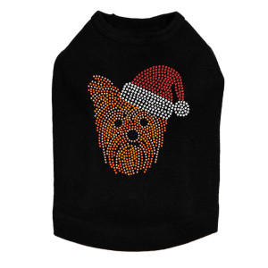 Yorkie Face # 2 with Santa Hat Dog Tank