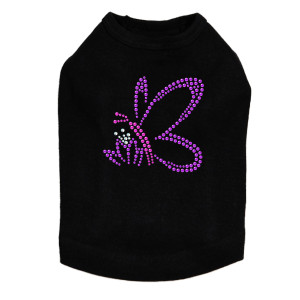 Pink & Purple Nailhead Butterfly dog tank for small and large dogs.