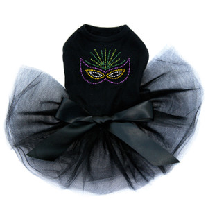 Mardi Gras mask dog tutu for large and small dogs.