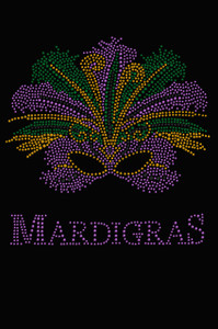 Madi Gras with Mask - Women's T-shirt