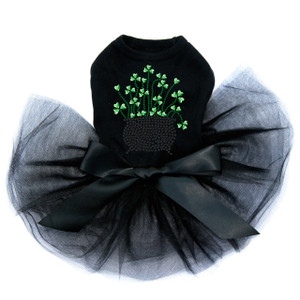 Pot of Shamrocks dog tutu for large and small dogs.