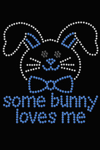 Some Bunny Loves Me - Blue - Women's T-shirt