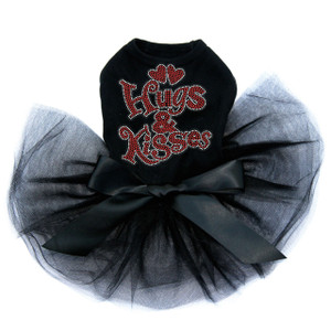 Hugs & Kisses Black Tutu for large and small dogs.