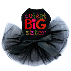 Cutest Big Sister dog tutu for large and small dogs.