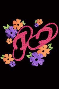 Satin Flip Flops with Flowers - Women's T-shirt