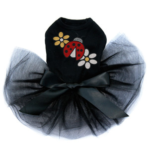 Glitter Ladybug & Daisies  dog tutu for large and small dogs.