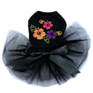 Satin Hibiscus dog tutu for large and small dogs.