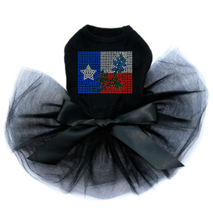 Texas Flag with Bluebonnet dog tutu for large and small dogs.