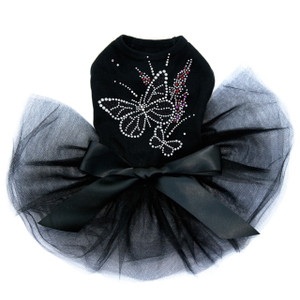 Black Butterfly with Flowers Tutu