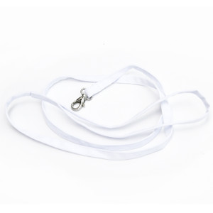 White cotton leash to be used with white collar and bow tie.
