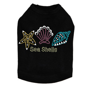 Sea Shells dog tank for small and big dogs