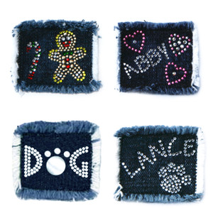 Custom designs for extra denim patches for Hollywood vest.   If a name or color/design choice is required, please add in comments at checkout.