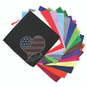 Patriotic American Heart #3 - Bandanna