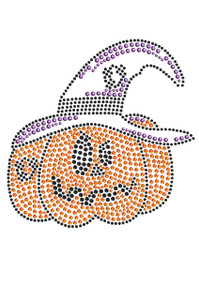 Jack O'Lantern with Hat - Adult Tee