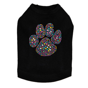 Multicolor dog tank for large and small dogs.