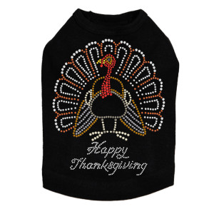 Happy Thanksgiving Turkey #2 Dog Tank