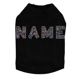 Custom Name - Multicolor - Dog Tank
